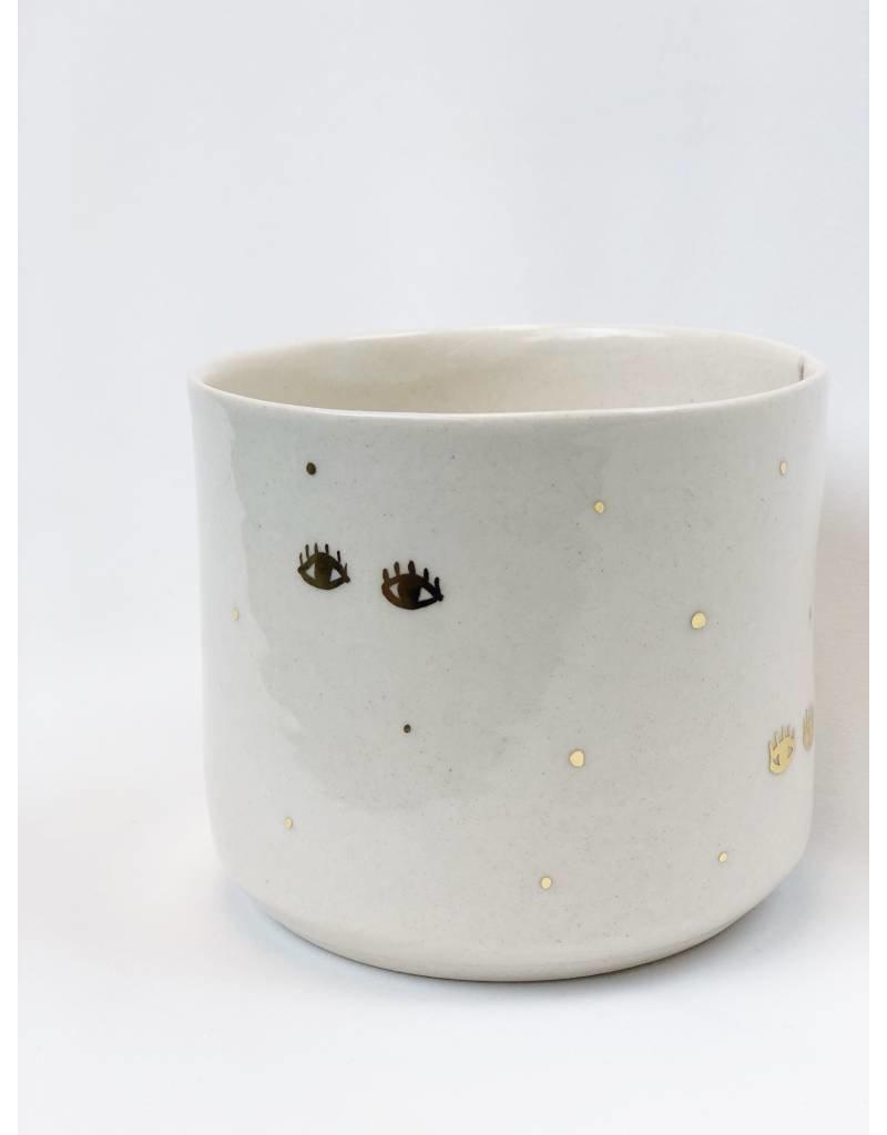 Gold Eyes Handmade Porcelain Vessel