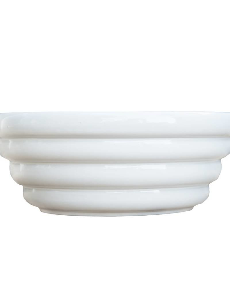 White Monterey Ceramic Serving Bowl