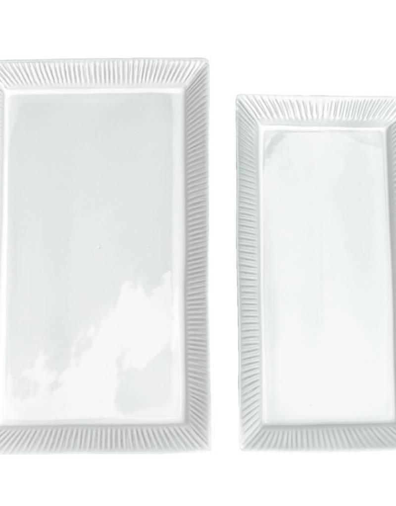 Small White Cambria Serving Platter