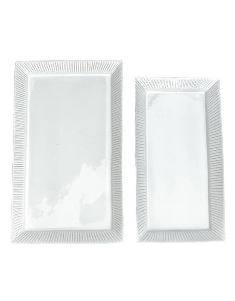Medium White Cambria Serving Platter