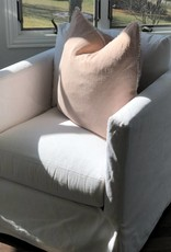 Dusty Pink Belgian Linen Throw Pillow