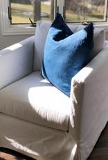 Belgian Linen Pillow - Cobal