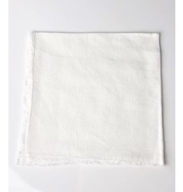 Linen Fringed  Napkin - Ecru