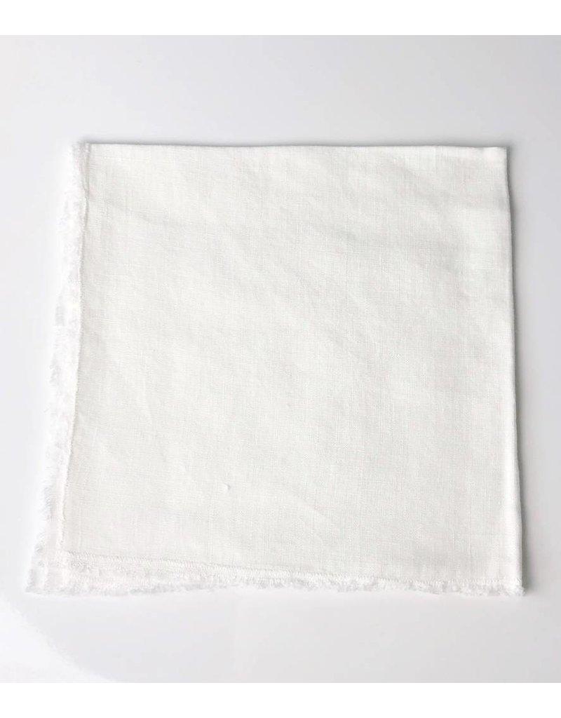 Ecru Linen Fringed Napkin