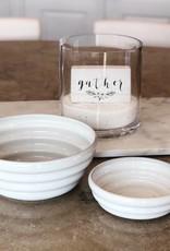 White Monterey Ceramic Serving Bowl