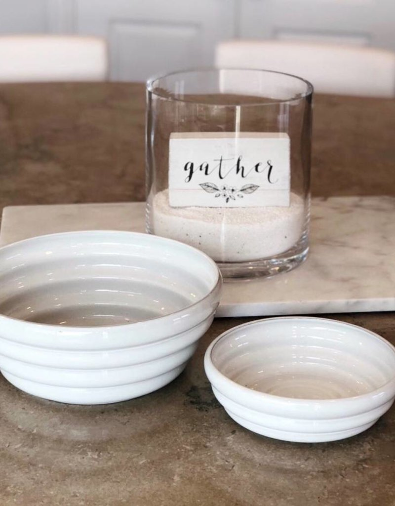 White Monterey Ceramic Pasta Bowl