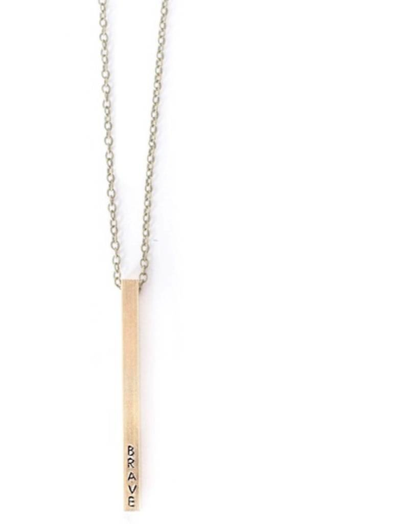 Brave Bar Necklace
