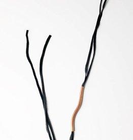 Copper w/ Black Leather Necklace