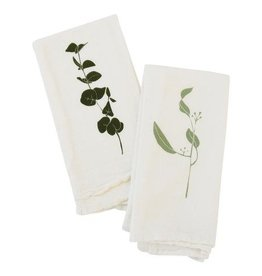 Eucalyptus Cotton Flour Sack Napkins - Set of 4