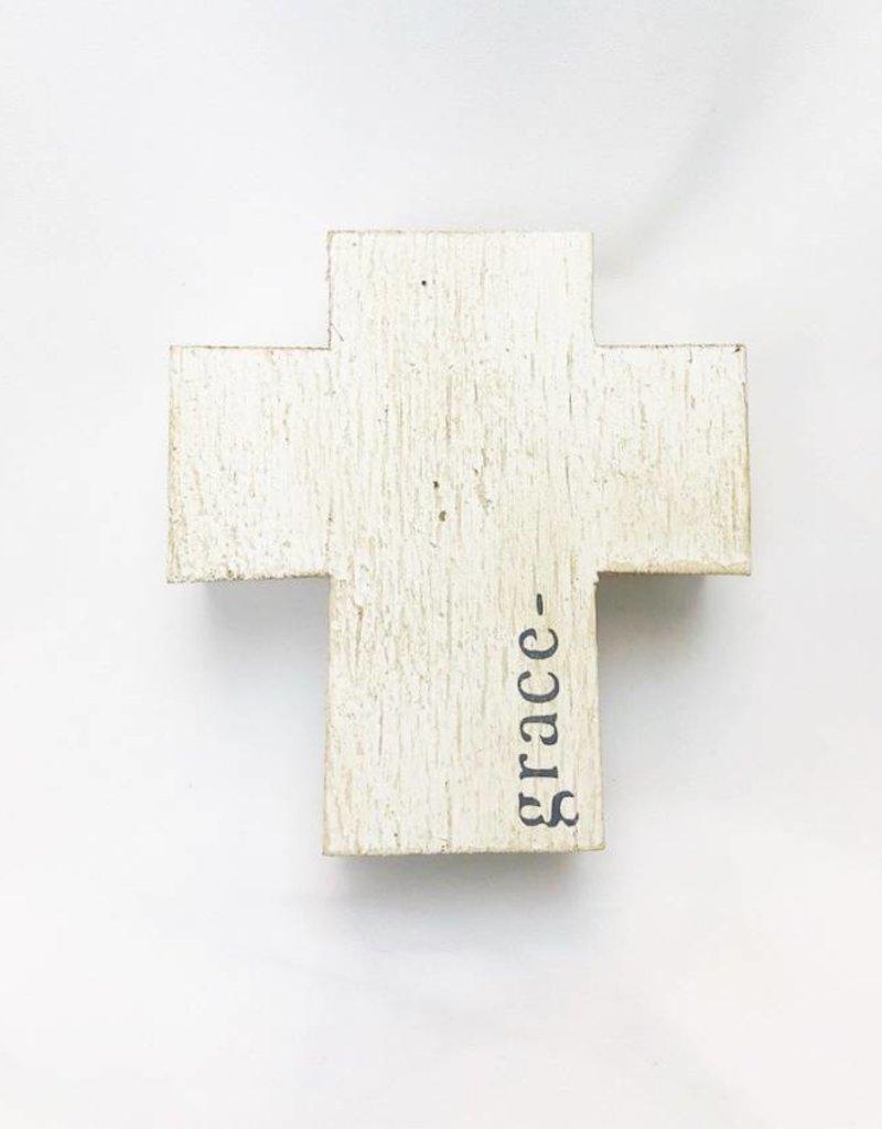 White Grace Wood Crossblock