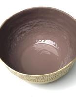 Heather Enamel Hammered Bowl