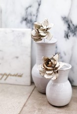 White Isabella Small Vase