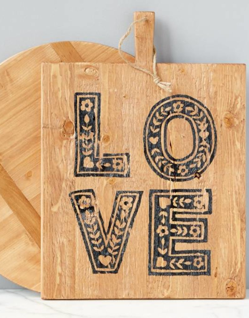 LOVE Boho Wooden Pizza Board