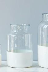 Ava White Mason Jar-Large