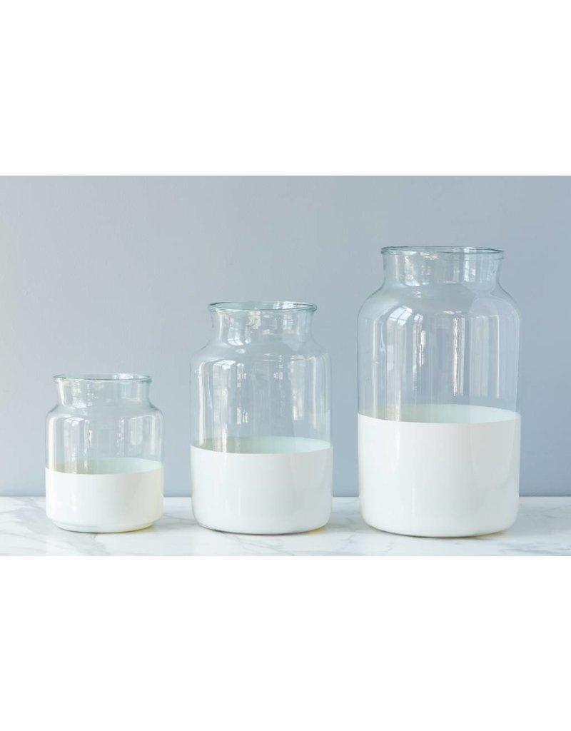 Large White Ava Mason Jar