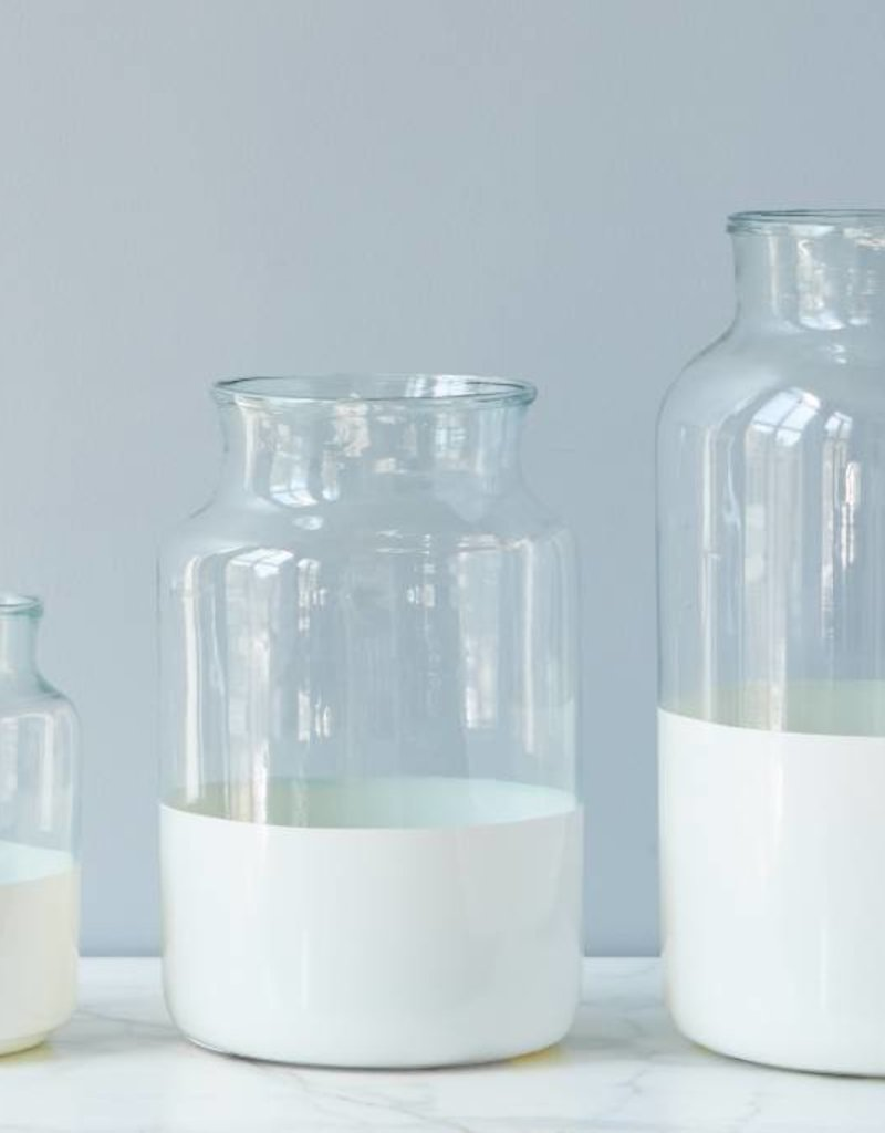 White Ava White Mason Jar - Medium