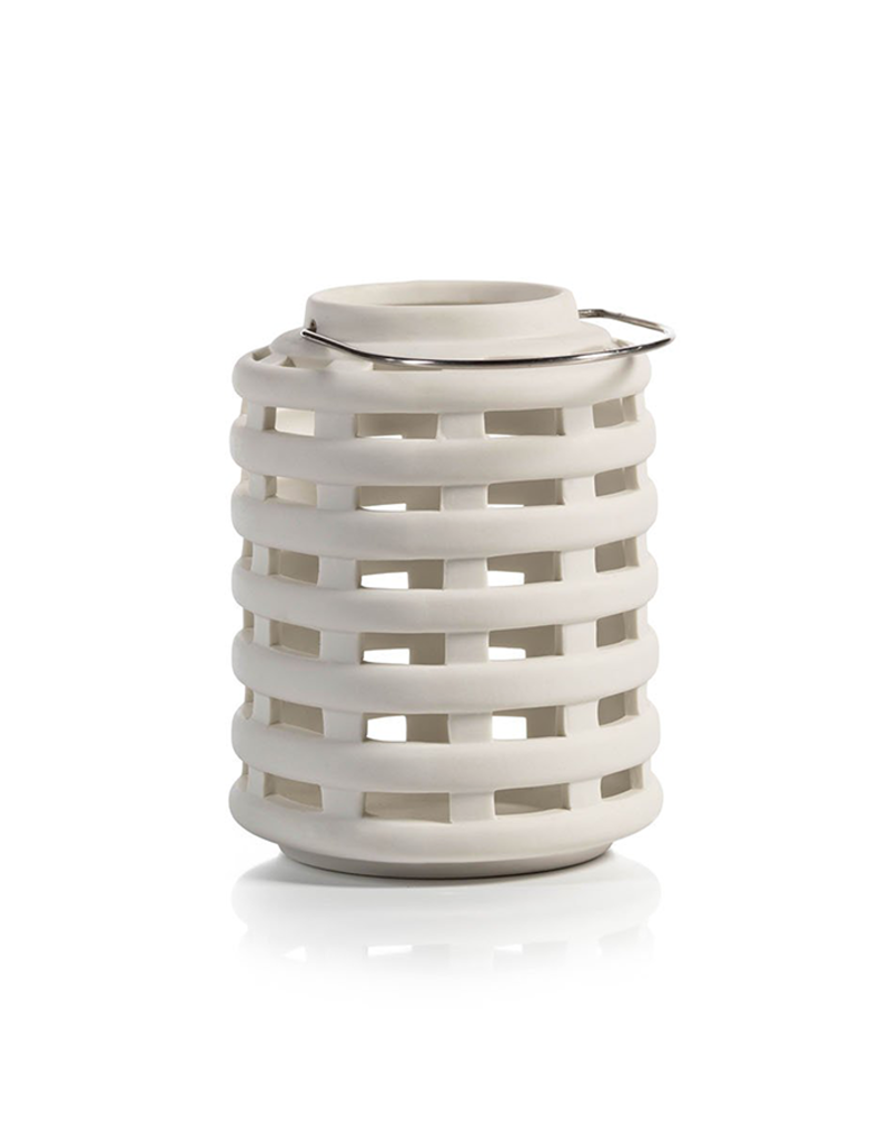 Small White Emma Ceramic Lantern