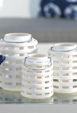 Medium White Emma Ceramic Lantern