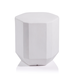 James Ceramic Stool- White