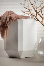 James Ceramic Stool- White
