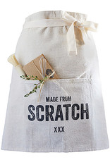 White Made From Scratch Waist  Apron