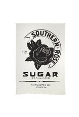 White Southern Rose Tea Towel