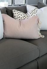 Linen Tassel Pillow - Pink