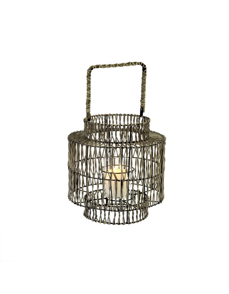 Small Ian Rattan Outdoor Lantern