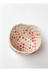 Ceramic Danish Vessel Red Stripe and Dots