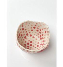 Polli Pot - Red Stripe- Dots