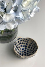 "Polli Pot White Out/Navy Dots In 2 x 3"" Diameter"