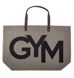 GYM -Jute Tote Bag