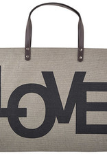 LOVE Jute Tote Bag