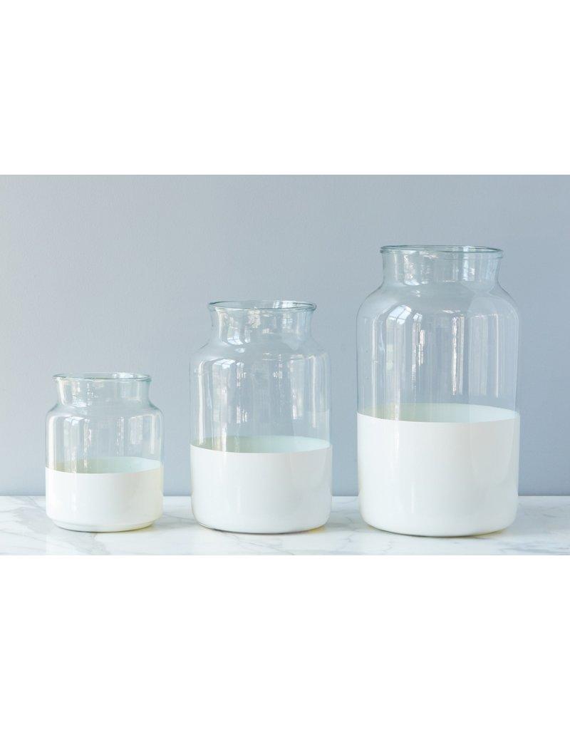 Small Ava White Mason Jar