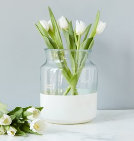Ava White Mason Jar-Small