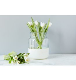 Ava White Mason Jar-Small