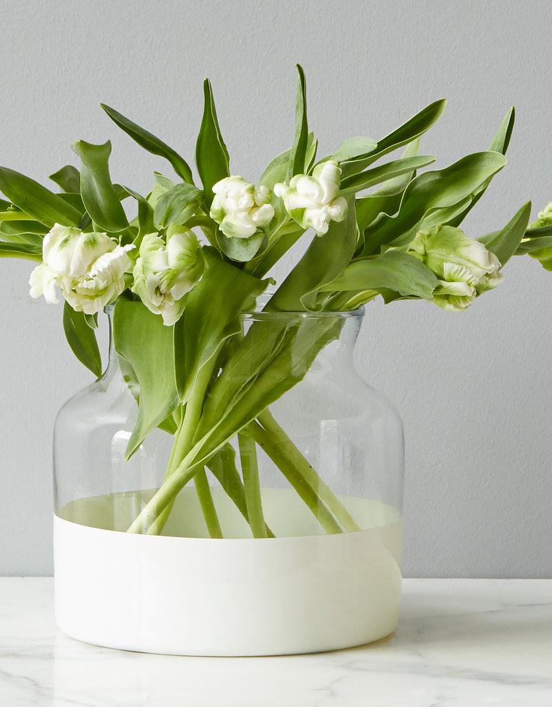 Ava White  Flower Vase