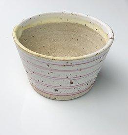 "Polli Planter Red Stripe Out 2.5"" x 4"" Diameter"