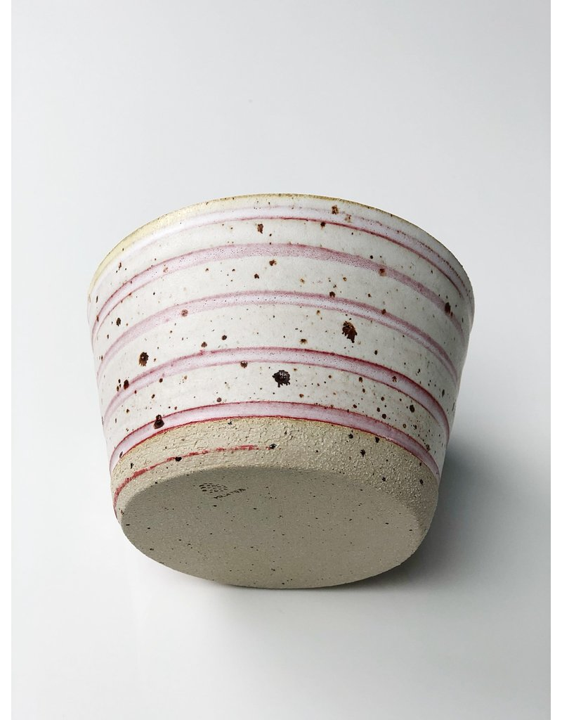 Ceramic Danish Polli Pot Planter Red Stripe