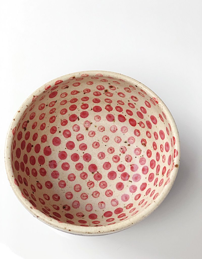 "Polli Planter Black Stripe Out / Red Dots In 2.5"" x 4"" Diameter"