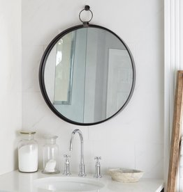 Black Round Bardot Mirror