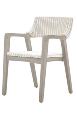 Rattan and Mahogany Henry Dining Chair