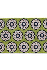 Green Spirograph Coir Doormat