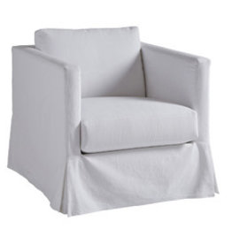 Mia Slipcover Chair - White