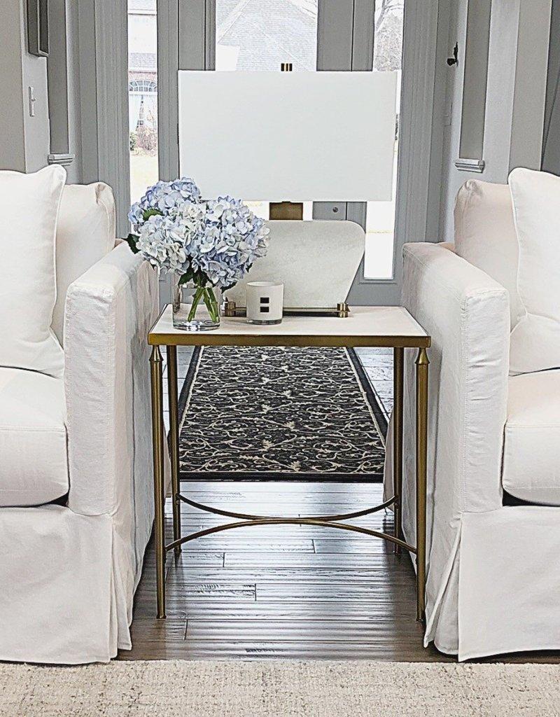 Mia Slipcover Arm Chair - White