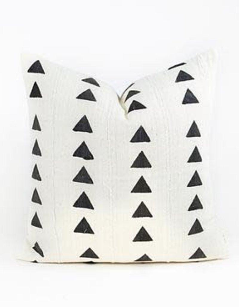 White Mud Cloth Throw Pillow