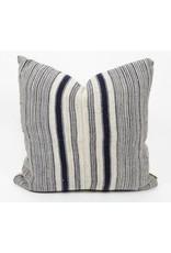 Tung Navy Striped Throw Pillow