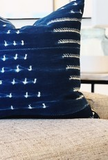 Navy Mud Cloth Throw Pillow