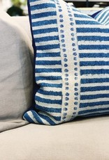 Blue Patterned Tara Throw Pillow