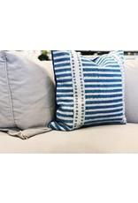 Blue Patterned Tara Throw Pillow